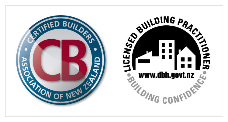 Certified Builder and Licensed Building Practitioner Logos